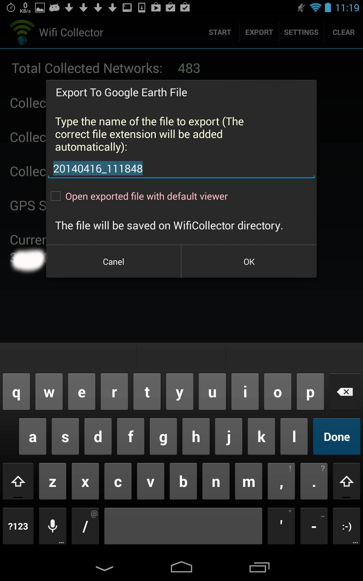 Wifi collector collect wireless networks information and for Localisation wifi