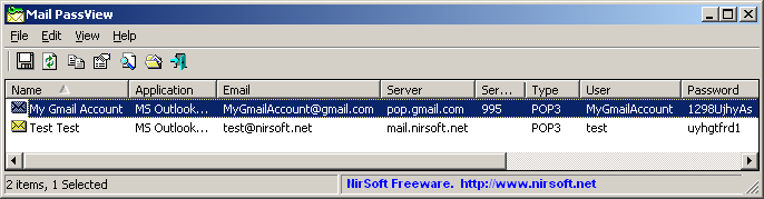 how to get outlook account information to recover