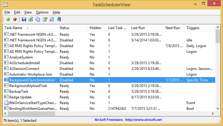 Screenshot of TaskSchedulerView