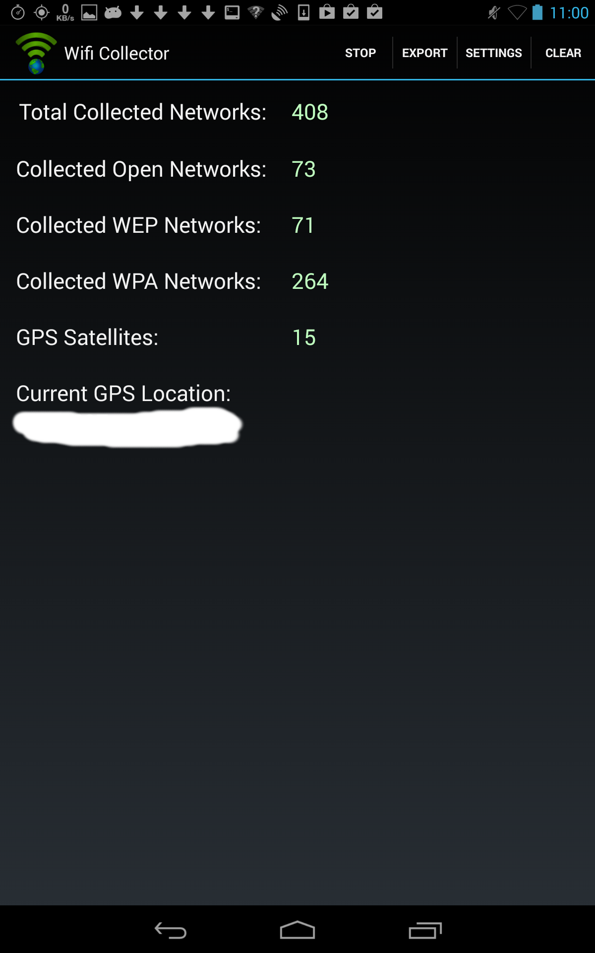 wifi collector collect wireless networks information and their