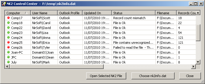 NK2Edit: Edit AutoComplete files ( NK2) of Microsoft Outlook
