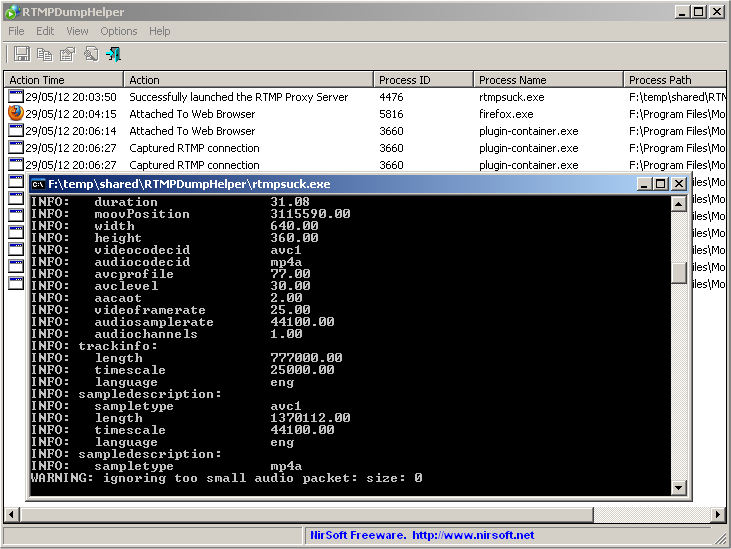 RTMPDumpHelper - Download RTMP video/audio streams with RTMPDump toolkit
